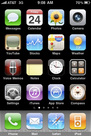 iPhone Main Screen