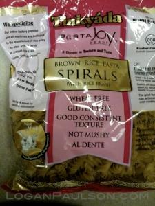 Rice based gluten free pasta