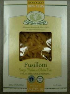Corn based gluten free pasta